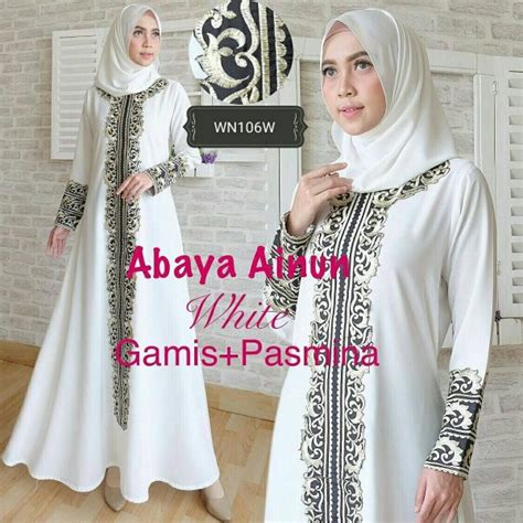 Gamis Pesta Aplikasi Bordir baju gamis pesta abaya ainun busana muslim pesta