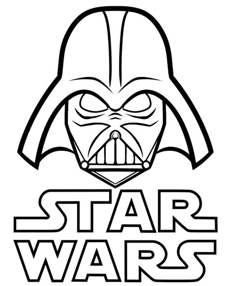 coloring pages star wars logo star wars logo and vader on a unique coloring page sheet