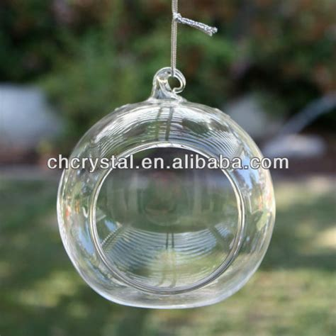 decorative glass hanging hanging glass decorative candle holder wholesale hand