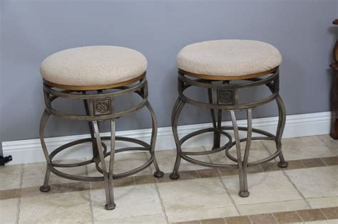 Ebay Dining Room Chairs by 2 Short Swivel Vanity Bar Stools Dining Room Chairs Metal