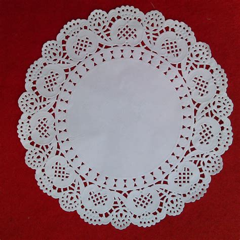 Coloured Paper Doyleys 55 100pcs new upgrade table placemats white lace paper doilies