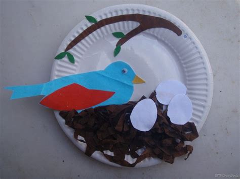 kids spring art idea bird in nest kids easter spring craft ideas pinterest nests kid