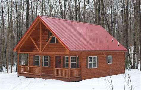 mountaineer style log cabin homes pennsylvania and west