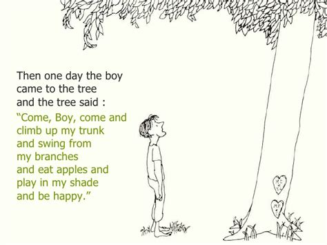 boy on a swing poem analysis the giving tree
