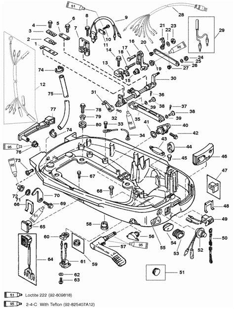 Mercury Marine 40 Hp 2 Cylinder Bottom Cowl Parts