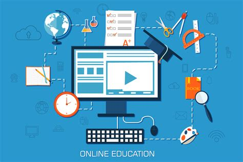 Themes In Distance Education | online education background concept illustrations on