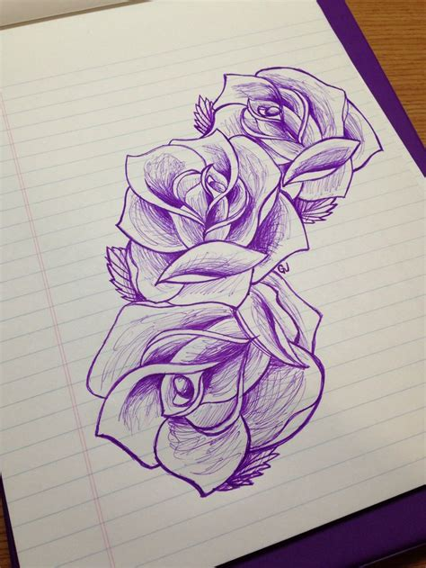 drawn tattoo designs 249 best school roses images on