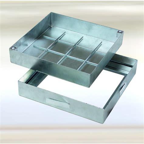 botole da pavimento chiusino d 180 ispezione sistema pro acciaio zincato a caldo