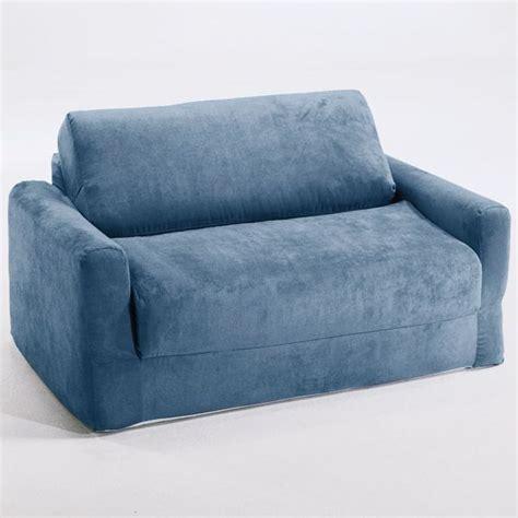 Kid Sleeper Sofa Sofa Sleeper In Blue Micro Suede Dcg Stores
