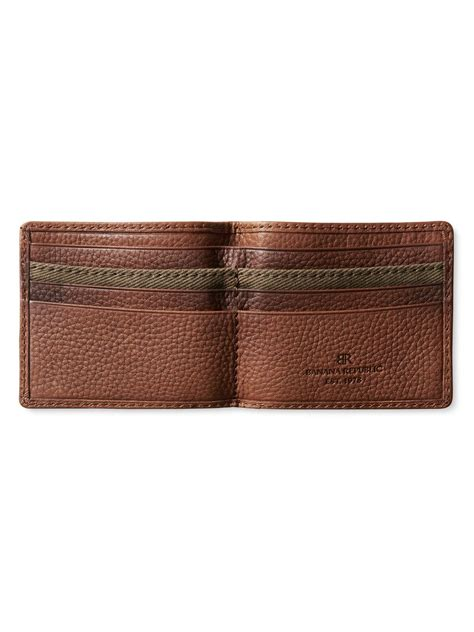 rugged leather wallet banana republic rugged leather wallet in brown for sequoia brown lyst