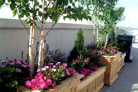 park slope brooklyn nyc rooftop garden terrace planter boxes containers bi contemporary