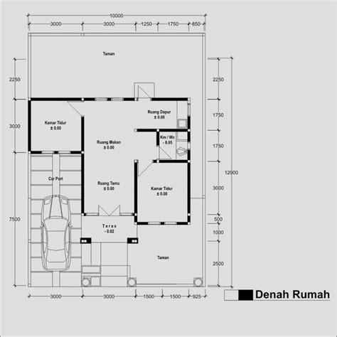 adriyendi sketsa denah rumah type 54