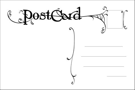 postcard back template images