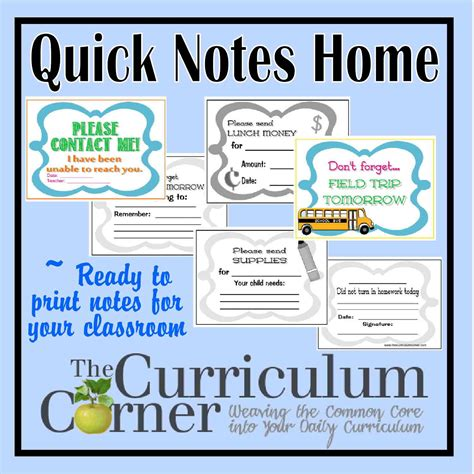 house of note quick notes home the curriculum corner 123