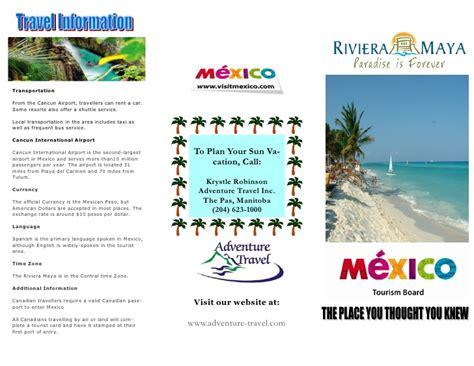 Travel Brochure Exemplar Mexico Brochure Template