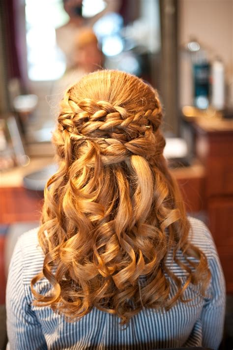 wedding hairstyles braids curls wedding hair half updo curls braids hair