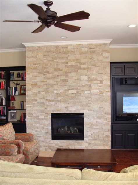 Faced Fireplace by Splitface Fireplace Traditional Living Room Other