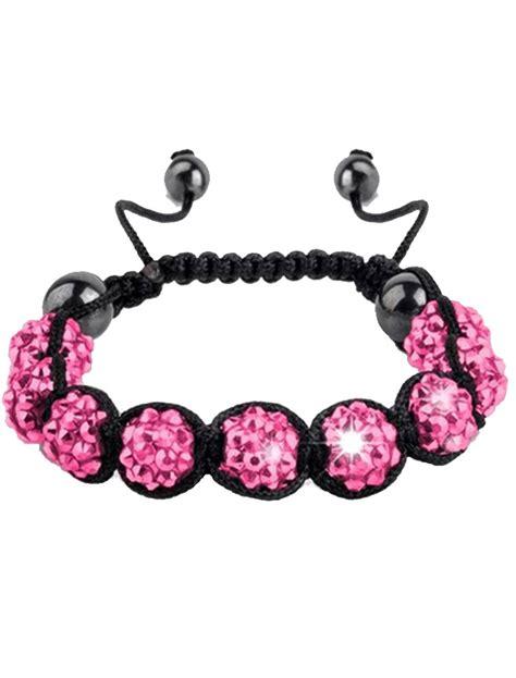 Premium Clay Crystal Shamballa Style Disco Friendship Gem Balls Czech 9 Bracelet   eBay