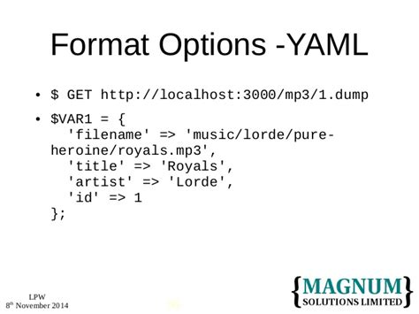 format yaml perl in the internet of things