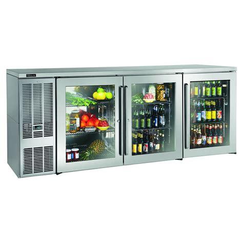 bar refrigerator glass door perlick bbs84gs s 84 quot 3 section bar refrigerator