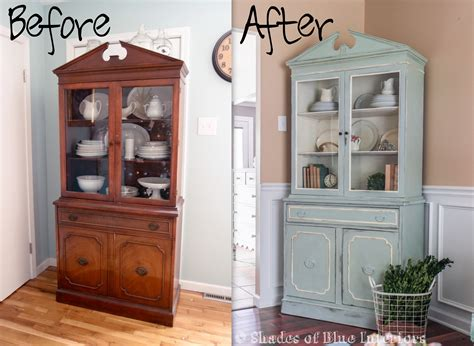 black china hutch cabinet china cabinet makeover shades of blue interiors