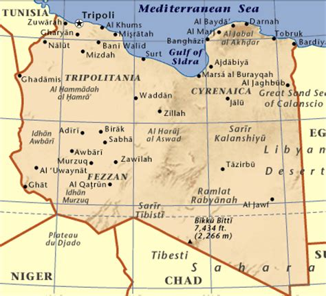 libya map with cities libya our eclipse trip mar apr 2006