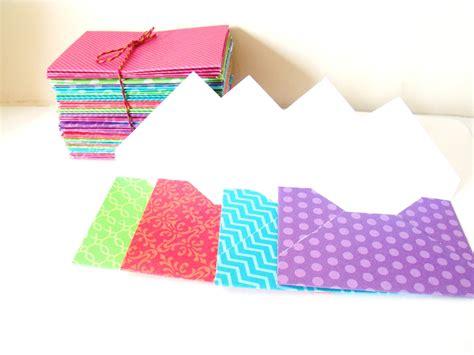 mini envelopes gift card size handmade from designer cardstock - Gift Card Size Envelopes