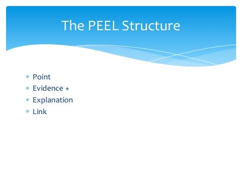 essay structure peel peel structure for literature essays