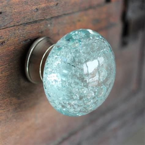 blue kitchen cabinet knobs glass drawer knob with bubbles in light blue furniture