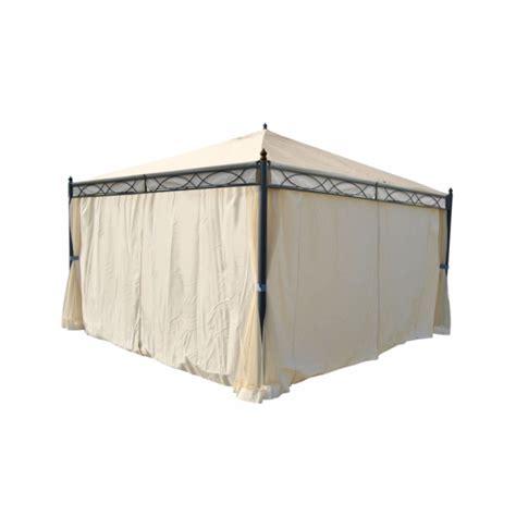 alu pavillon 4x4m havepavillon 4x4m beige pavillon med myggenet