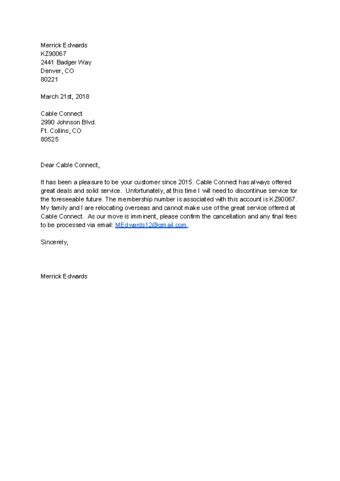 Timeshare Cancellation Letter Sle