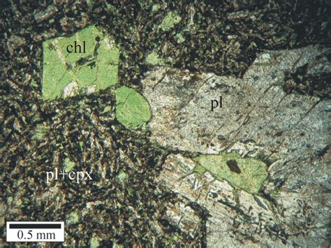 chlorite in thin section usgs ofr03 221 thin section photomicrograph of sle