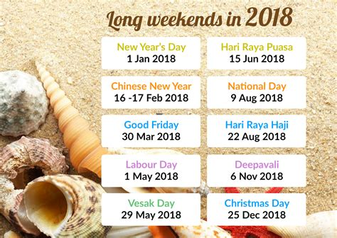 Calendar 2018 Raya Cina Time To Plan Your Leave 4 Weekends For 2018