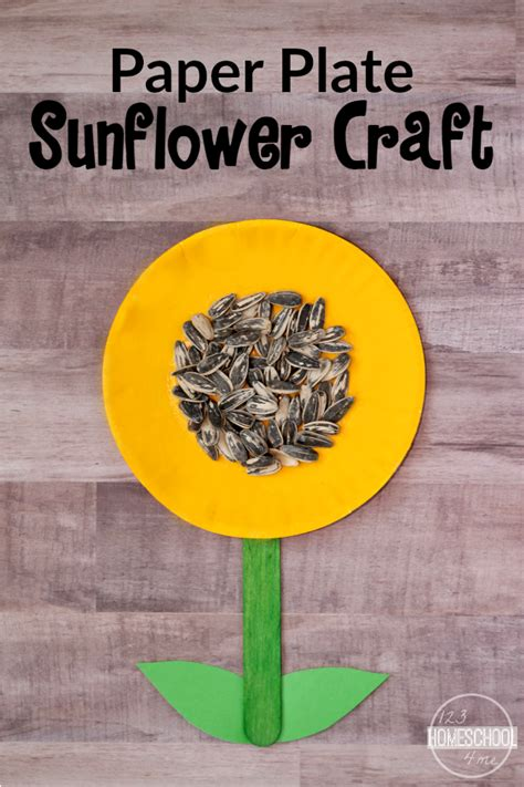 Paper Plate Sunflower Craft - simple sunflower craft