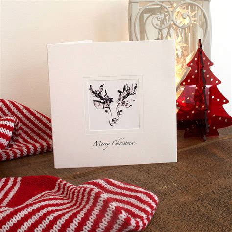 raindeer shiers five handmade reindeer cards by eggs notonthehighstreet