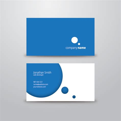 free circle business card templates circle business card 1 free images at clker vector