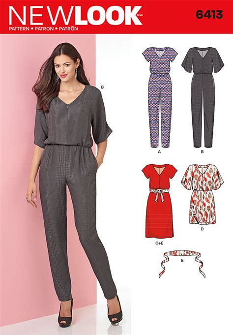 jumpsuit sewing pattern 2015 new look 6413 misses jumpsuits
