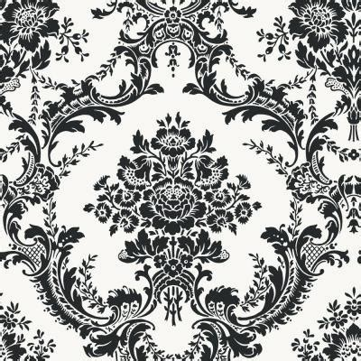 Black And White Damask Wallpaper Home Depot | the wallpaper company 56 sq ft black and white mid scale