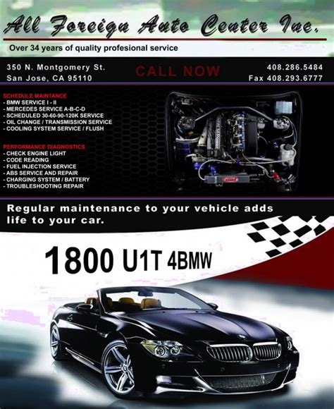 Bmw Repair San Jose by Bmw Repair By All Foreign Auto Center Inc In San Jose Ca