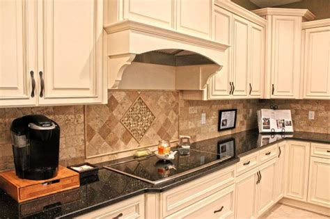 decorative vent hoods two tone kitchen cabinets two tone kitchen and tumbled