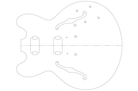 guitar f template gibson es 335 guitar templates electric herald