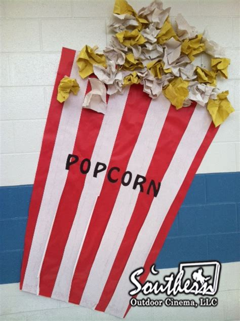 How To Make Popcorn Out Of Paper - popcorn decoration out of construction paper