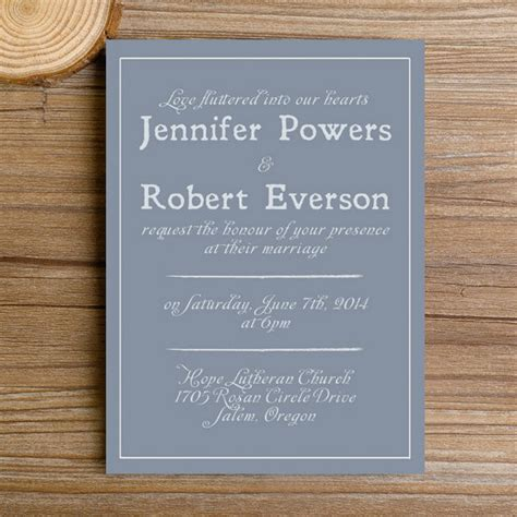 modern dusty blue simple wedding invitations ewi384 as low as 0 94