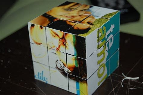 How To Make A Rubix Cube Out Of Paper - rubik s cube photo frame 183 how to make a photo block