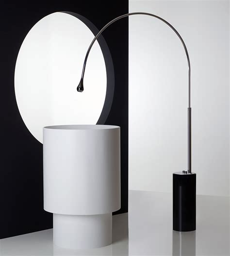 Gessi Faucets by Gessi Goccia Floor Faucet White Pedestal Stona