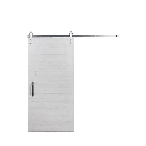Rustica Hardware 36 In X 84 In Rustica Reclaimed White Reclaimed Barn Door Hardware