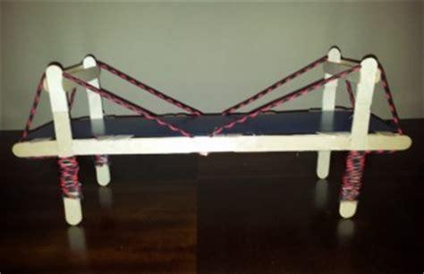 Popsicle Stick Suspension Bridge How To Build A Popsicle Stick Bridge Science Project Ideas