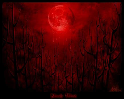 Moon Bloody Moon bloody moon by migtoons on deviantart