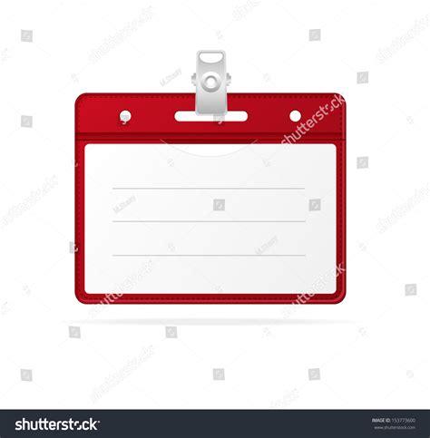 Blank Id Card Id Card Kosong blank id identification card badge isolated stock vector 153773600