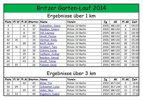 Britzer Garten Lauf Ergebnisse by Britzer Garten Lauf 2014 Polizei Sv Berlin